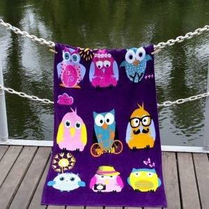 Полотенце Lotus пляжное — Owls Family 75×150