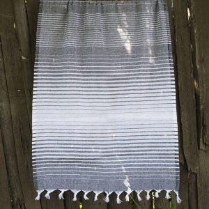 Полотенце Lotus Pestemal – Black 03 Micro stripe 75×150