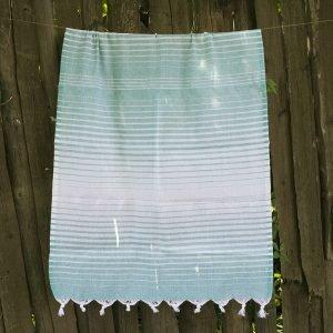 Полотенце Lotus Pestemal – Green 10 Micro stripe 75×150