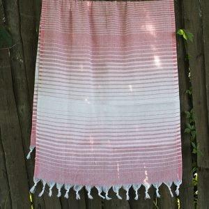 Полотенце Lotus Pestemal – Light-pink 05 Micro stripe 75×150