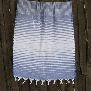 Полотенце Lotus Pestemal – Navy-blue 14 Micro stripe 75×150
