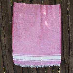 Полотенце Lotus Pestemal – Pink 01 Simple stripe 75×150