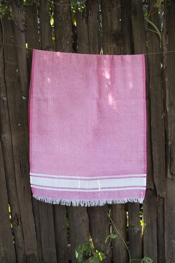 купить Полотенце Lotus Pestemal - Pink 01 Simple stripe (2000022187053)