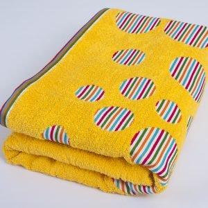 Полотенце Shamrock – Rainbow желтый 100×145
