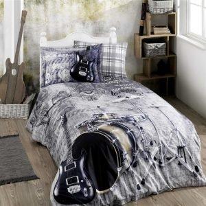 Постельное белье ТМ Hobby Poplin Rock Music grey 160×220