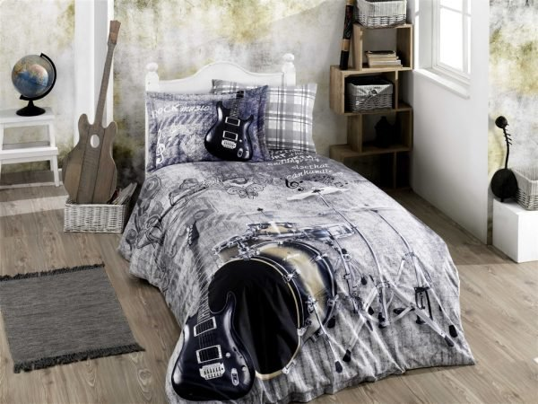 купить Постельное белье ТМ Hobby Poplin Rock Music grey (IZ-8698499141070)