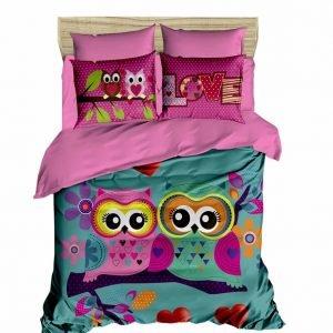 Постельное белье ТМ Lighthouse Ранфорс 3D Owls In Love 200×220