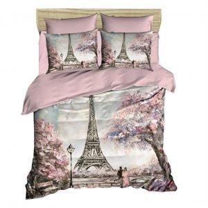 Постельное белье ТМ Lighthouse Ранфорс 3D Paris Spring 200×220