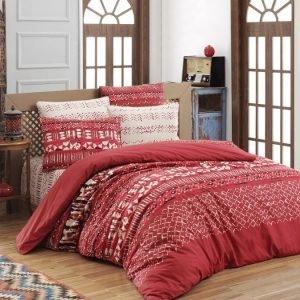 Постельное белье ТМ Lighthouse Ranforce Ethno red 200×220
