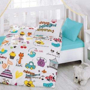 купить Постельное белье для новорожденных Cotton Box Mutlu Bebek Beyaz (CB08007738)