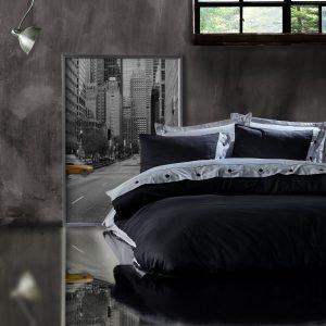 Постельное белье Cotton Box Gri Siyah 200×220