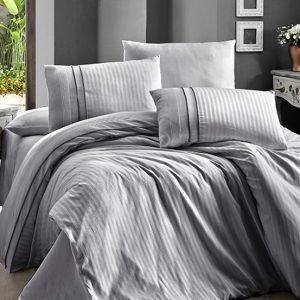 Постельное белье First Choice сатин ДеЛюкс stripe style gri 200×220