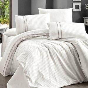 Постельное белье First Choice сатин ДеЛюкс stripe style krem 200×220