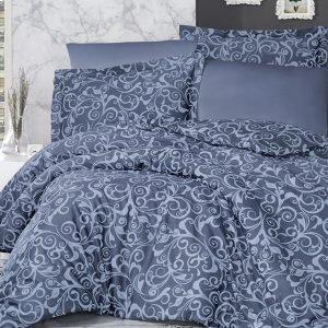 Постельное белье ТМ First Choice сатин люкс sweta indigo 200×220