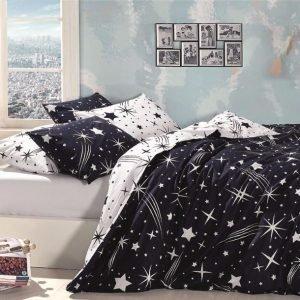 купить Постельное белье ТМ First Choice De Luxe star Двуспальное|Евро комплект