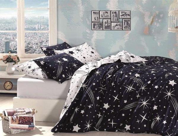 купить Постельное белье ТМ First Choice De Luxe star Двуспальное Евро комплект
