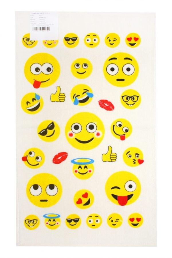купить Кухонное полотенцесмайл 30x50см желтое Турция (IZ-2200000541321)