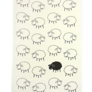 купить Кухонное полотенце Веселые баражки 40x60см кремовое Турция (IZ-2200000542557)