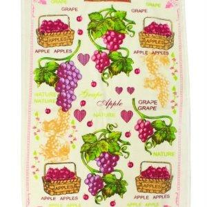 купить Кухонное полотенце Виноград 40x60см розовое Турция (IZ-2200000541697)
