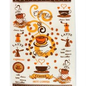 купить Кухонное полотенце Горячее Кофе 40x60см кофейное Турция (IZ-2200000541574)