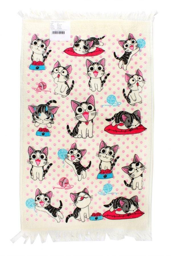 купить Кухонное полотенце Котята 40x60см розовое Турция (IZ-2200000541505)