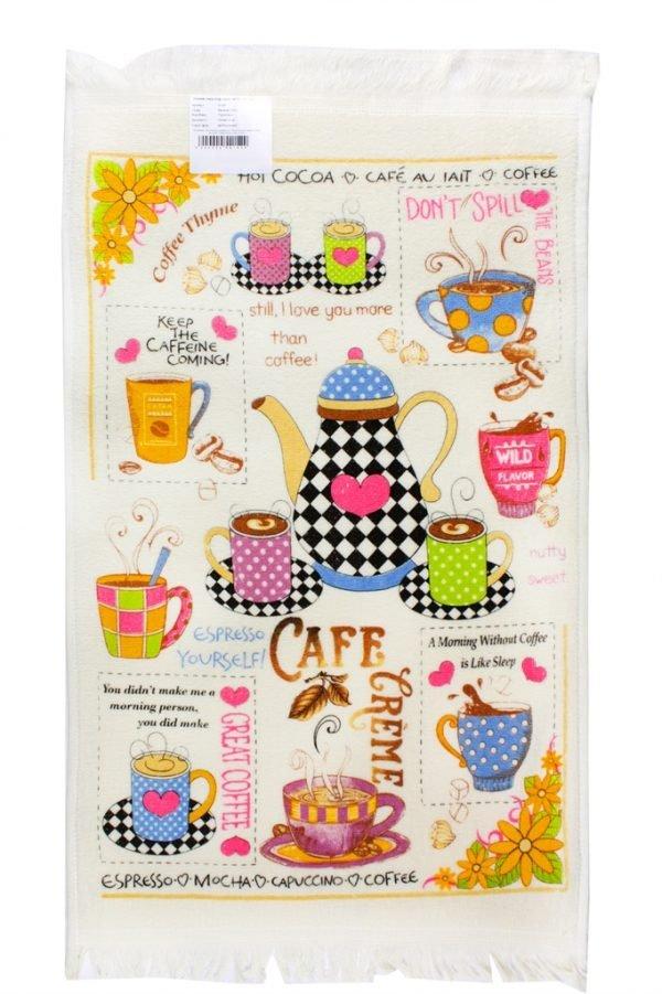 купить Кухонное полотенце Кофе розовое Турция (IZ-2200000541529-v)