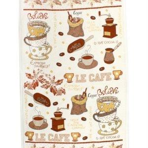 купить Кухонное полотенце ЛеКафе 40x60см кофейное Турция (IZ-2200000541543)