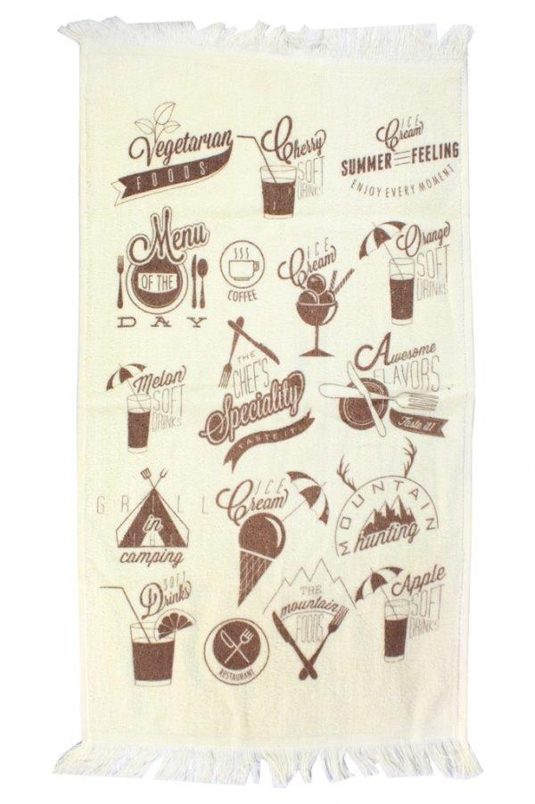 купить Кухонное полотенце Лето 40x60см бежевое Турция (IZ-2200000541680)