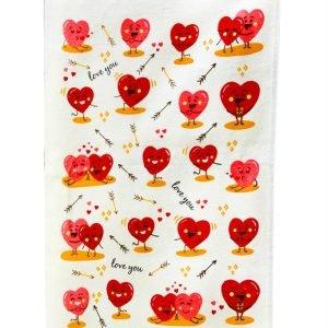 Кухонное полотенце Любовь 40×60см красное