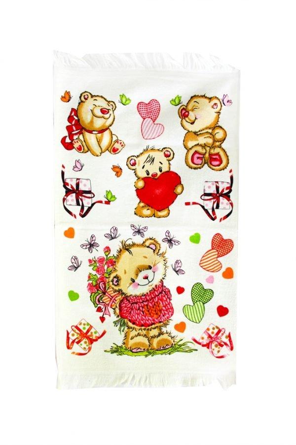 купить Кухонное полотенце Медвежата 40x60см розовое Турция (IZ-2200000546388)