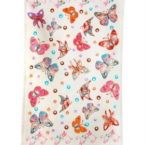 Кухонное полотенце Мотылек 30×50см розовое
