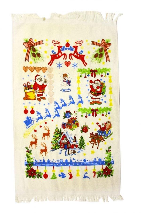 купить Кухонное полотенце Новое Год 40x60см красное Турция (IZ-2200000544155)