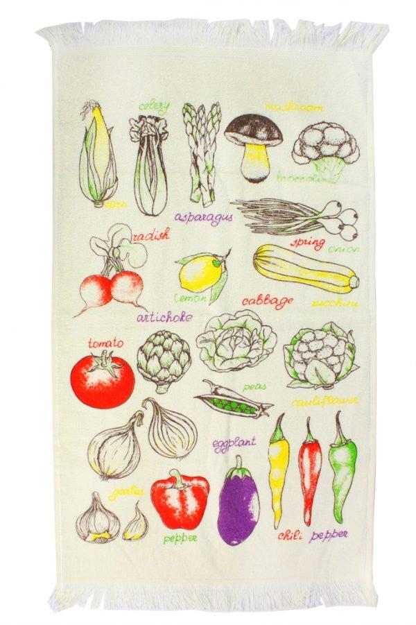 купить Кухонное полотенце Овощи 40x60см желтое Турция (IZ-2200000541673)