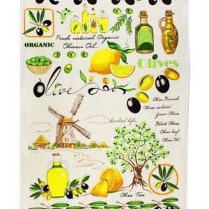 купить Кухонное полотенце Оливки зеленое Турция (IZ-2200000541437-v)