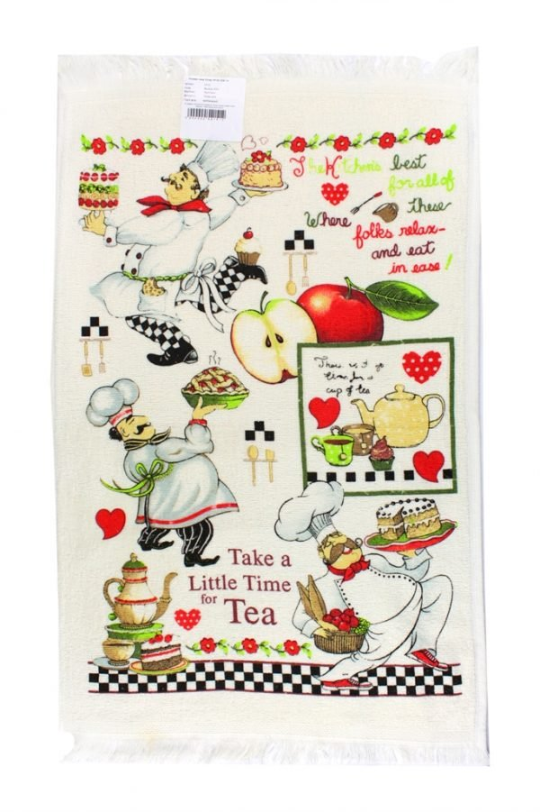 купить Кухонное полотенце Повар зеленое Турция (IZ-2200000541512-v)