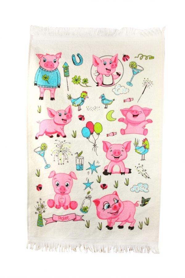 купить Кухонное полотенце Поросята 40x60см розовое Турция (IZ-2200000544063)