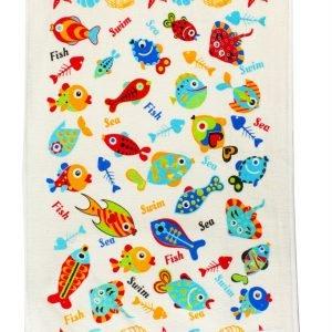 Кухонное полотенце Рыбки 40×60см голубое