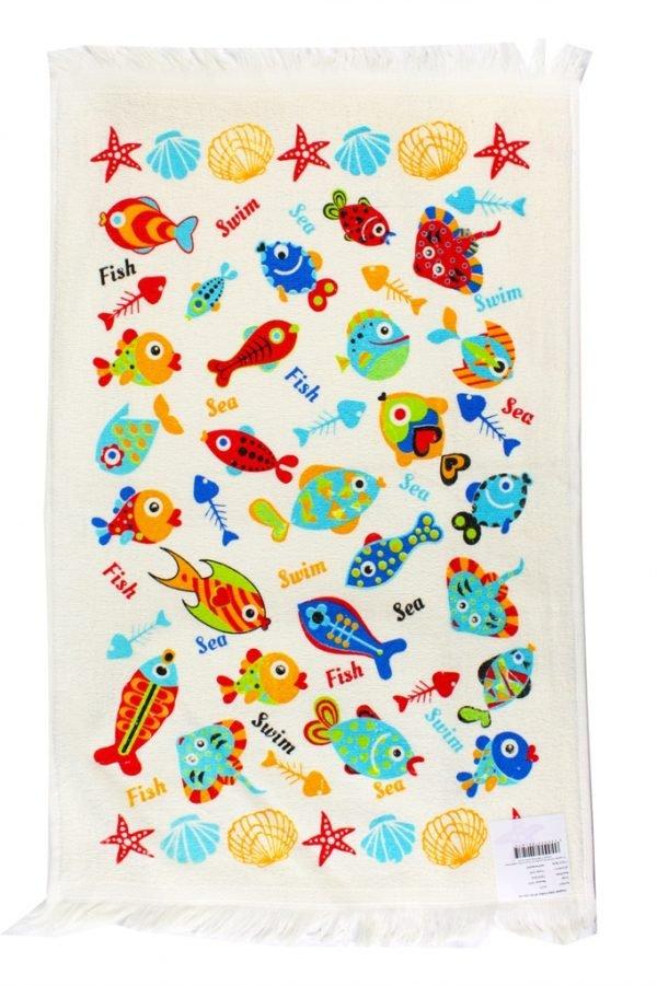 купить Кухонное полотенце Рыбки 40x60см голубое Турция (IZ-2200000541475)
