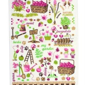 Кухонное полотенце Сад 30×50см розовое