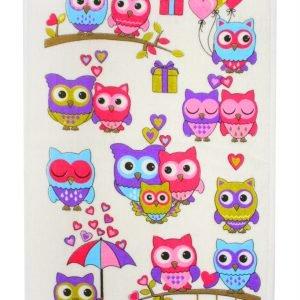 Кухонное полотенце Совы Лето 30×50см розовое