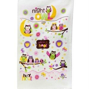 Кухонное полотенце Совы Ночь 40×60см сиреневое