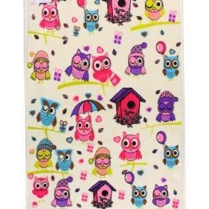 Кухонное полотенце Совы Осень 40×60см розовое