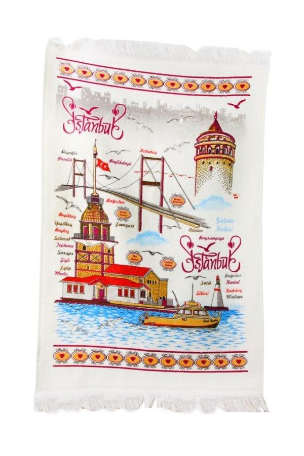 купить Кухонное полотенце Стамбул 40x60см голубое Турция (IZ-2200000544070)
