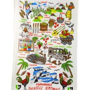 Кухонное полотенце Турция 40×60см зеленое