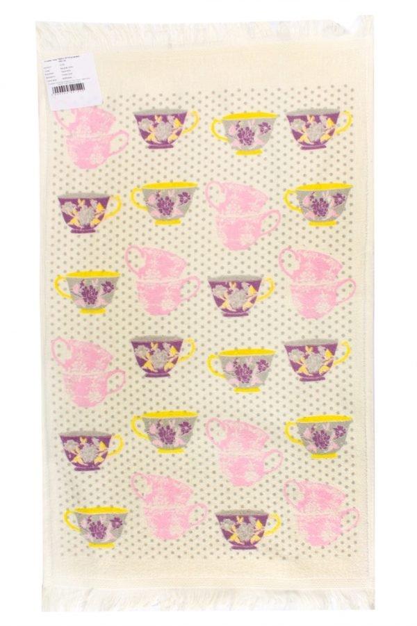 Кухонное полотенце Чашка 40×60см розовое