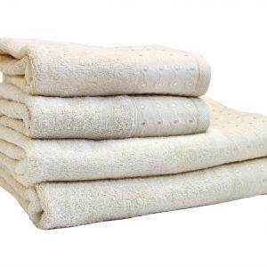Махровое полотенце Bamboo Puan кремовое