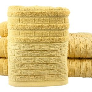 Махровое полотенце DAISY желтое