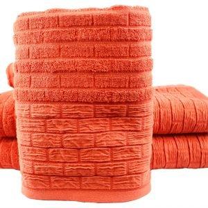 Махровое полотенце DAISY 50×90см оранжевое