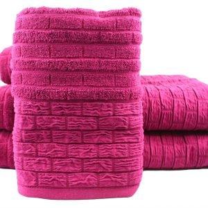 Махровое полотенце DAISY 50×90см розовое