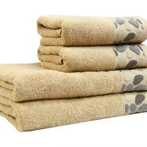 Махровое полотенце Gravel бежевое